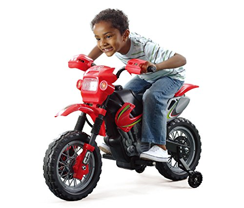 Motorcross 6V Battery Powered Motorbike Ride On Toy with Headlight and Music Playing