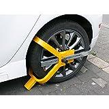 ECD Germany Radkralle Diebstahlsicherung - aus Stahl für 13-17 Zoll Räder - Parkkralle - Reifenkralle - Lenkradsperre - Wegfahrsperre - Radsicherung - Radschloss PKW Auto