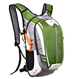 Local Lion Fahrradrucksack Trinkrucksack Reiserucksack Sportrucksack Tagesrucksack Alltags Daypacks Backpack Outdoor Ultraleicht Unisex 18L, Grün