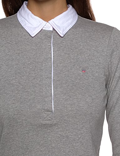 GANT Damen Poloshirt NEAT RUGGER Grau (GREY MELANGE 93)
