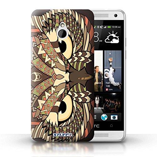 Kobalt® Imprimé Etui / Coque pour HTC One/1 Mini / Loup-Sépia conception / Série Motif Animaux Aztec Hibou-Sépia