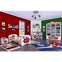 """Preisvergleich für naka24 6 -teiliges Set Jugendzimmer Kindermöbel Zimmermöbel F-1"""" mit Kinderbett ORANGE"""