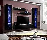 Unbekannt BMF Fly A1 Modernes Hochglanz-Wohnzimmer/Schlafzimmer/Studio flach – Möbelset – Wandschrank TV-Ständer/LED-Schränke