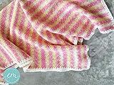 Babydecke gestrickt, rosa, allergikerfreundlich