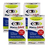 Macu-SAVE Eye Supplement for Macular Health with Meso-Zeaxanthin/Lutein and Zeaxanthin - Pack of 4 X 90 Capsules