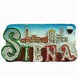 MUYU Magnet Imán para Nevera en 3D Siena Italia, decoración de hogar y Cocina, Pegatina magnética, imán para Nevera Siena Italia, Regalo de Recuerdo de Viaje