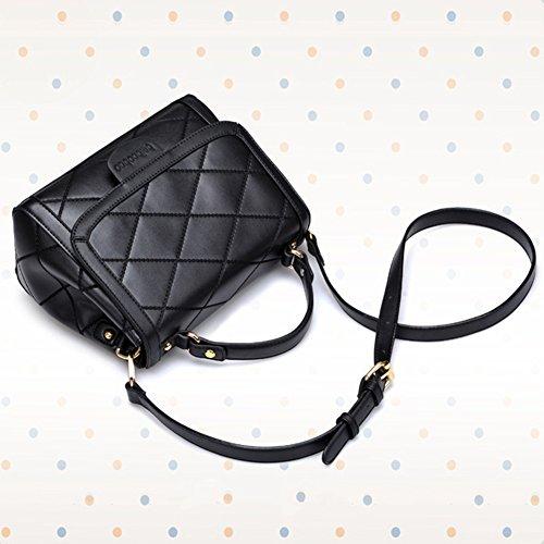 Moollyfox Borsa A Tracolla Messenger Bag Modello Del Con Diamanti Nero
