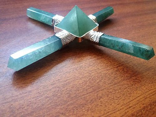 new-year-sale-green-aventurine-point-energy-generator-with-4-point-and-in-middle-pyramid-chakra-heal