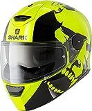 Shark Skwal Instinct Hi-Vis Led Motorradhelm, Farbe neon-gelb-schwarz, Größe XS (53/54)