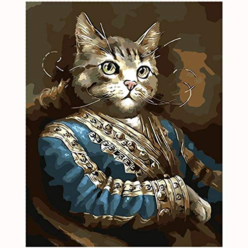 Nette Naughty Kostüm & - YIZHL Ölgemälde Geschenk für Erwachsene,Naughty Cat Schöne Bild Malerei Cartoon Malen nach Zahlen Moderne Wandkunst Acrylbild Handgemalte Kinder Geschenk
