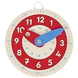 Kleine Lernuhr, Holz, Goki, Uhrzeit lernen von Goki