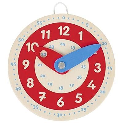 Goki Learn To Tell The Time - Reloj de Aprendizaje, Multicolor, 10 cm de Goki