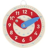 Apprendre à lire l'heure, Horloge en bois Goki