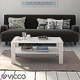 VICCO-Couchtisch-Wei-100-x-60-cm-Wohnzimmertisch-Beistelltisch-Sofatisch-Kaffeetisch