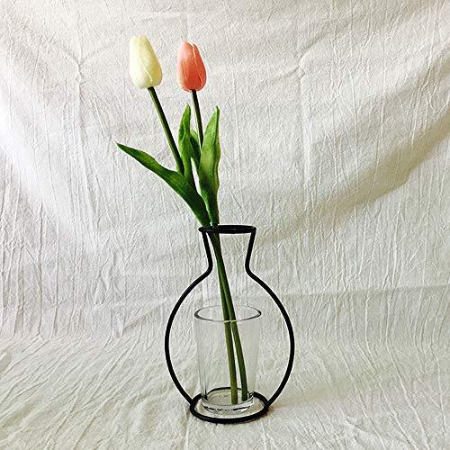 Gaddrt Moderne europäische nordische minimalistische abstrakte Vase aus schwarzem Eisen,...