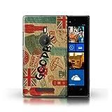 Stuff4® Hülle/Case für Nokia Lumia 925 / Auf Wiedersehen Europa Muster/Großbritannien/Britischer Stolz Kollektion