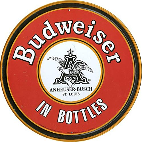 WallAdorn Budweiser En Botellas Cartel de Hierro Pintura Cartel de Cha