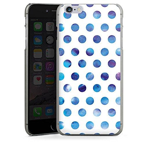 Apple iPhone X Silikon Hülle Case Schutzhülle Punkte Dots Wasserfarbe Hard Case anthrazit-klar