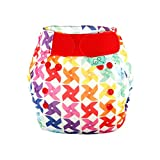 TotsBots PeeNut Whirl Reusable Washable Waterproof Wrap Size 2, 9 to 35lbs,  for use with Bamboozle Nappies