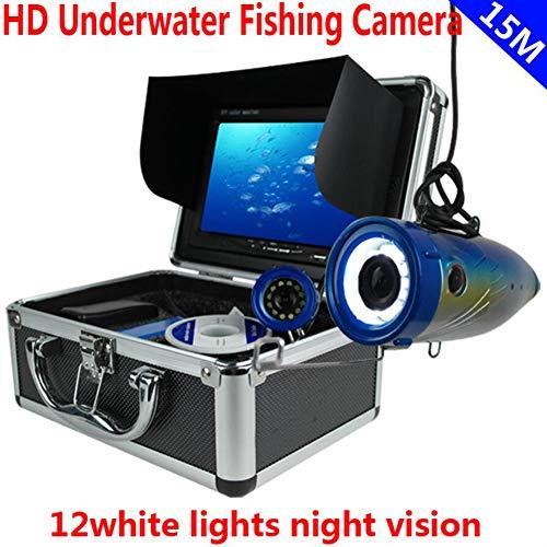 MBEN Professioneller Unterwasser-Angelfinder, 7-Zoll-HD-TFT-LCD-1200-TVL-HD-Objektiv, wasserdichtes 15-Meter-Kabel, Fischdetektor mit Akku Lowrance-kabel