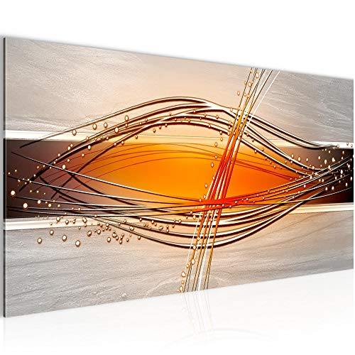 Bilder Abstrakt Wandbild Vlies - Leinwand Bild XXL Format Wandbilder Wohnzimmer Wohnung Deko Kunstdrucke Orang 1 Teilig - MADE IN GERMANY - Fertig zum Aufhängen 103312c
