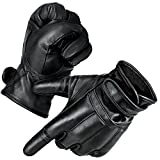 Black Snake 1 Paar Security Quarzsandhandschuhe Defender Einsatzhandschuhe aus echtem Leder (Touch, XL)