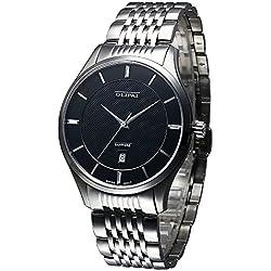 OLIPAI Men's Stainless Steel Swiss Quartz Silver Watch JT2017-S-B