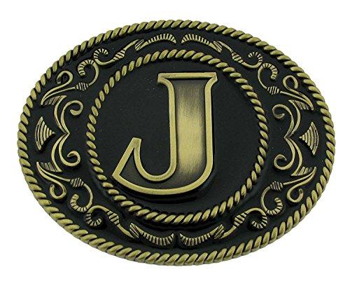 Siskiyou Western cowboy cowgirl initial letter J Belt Buckle rodeo Vintage Women (Womens Western Belt Buckle)