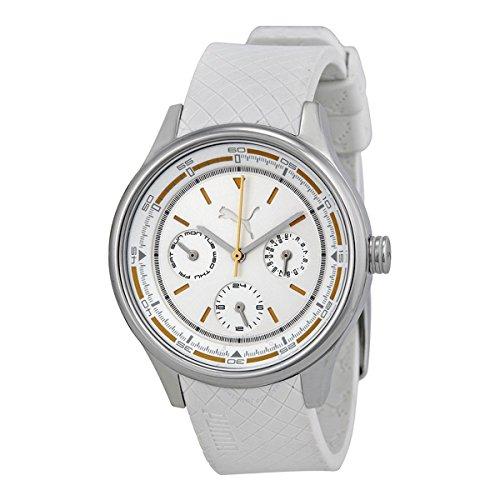 Puma Women's Motor PU102742001 White Rubber Quartz Watch with White Dial