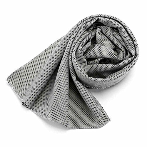 Calistouk Sofort kühlendes Handtuch, für den Außenbereich, hellgrau (Eis Angeln Handtuch)
