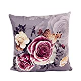 Meisijia Super Soft Druck Färben Peony Pillowcase Polyester-Baumwolle Kissenbezug Büro-Sofa Heim-Auto-Dekor