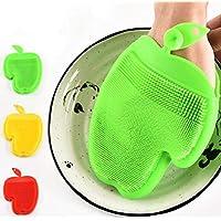 Piezas Cepillo Para Lavar Platos, Silicona Aceite Antiadherente Cepillo De Limpieza Hangable Pot Dish Brush