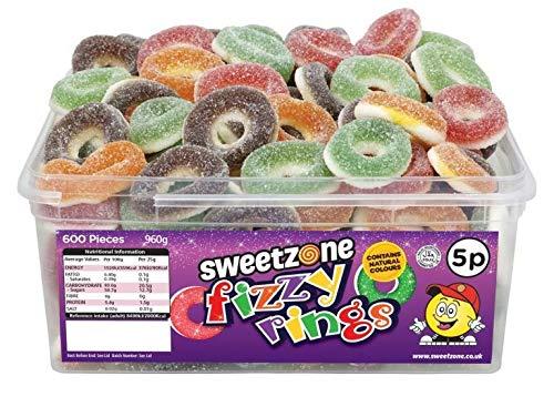 SweetZone 100{a8a7575b283516954c053dfba6d71d9c100c1d876f9615e6615262ce1f7367bc} Halal Fizzy Rings Candy ohne Schweinegelatine 1kg