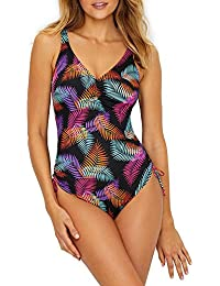 142338f28bed5 Fantasie Womens Talamanca Underwire V-Neck Swimsuit with Adjustable Leg