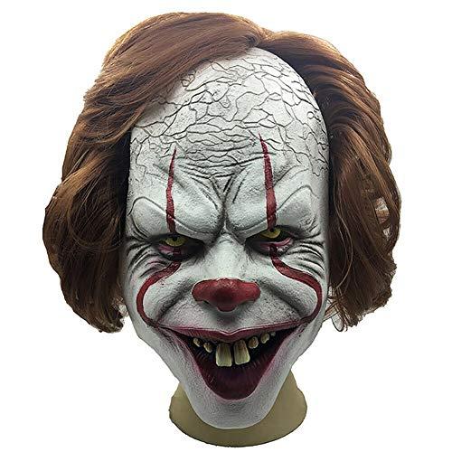 Twisty Dem Kostüm Clown Halloween - Watkings Halloween Horror Clown Vollmaske, gruselige Maske, Gruselige Clownmaske, Halloween Cosplay Kostüm Requisiten für Halloween Party für Erwachsene