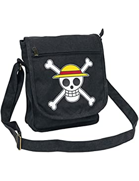 One Piece Skull Umhängetasche anthrazit