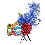 Jannes 2176 Venzianische Maske Harlekin Maske Venedig Venezianisch venezianischer Karneval Pestmaske Maskenball Venezia Vogelmaske Einheitsgröße Multi