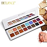 DE'LANCI Maquillage de couleurs 16 couleurs et ombre à paupières, Shimmer & Matte -...