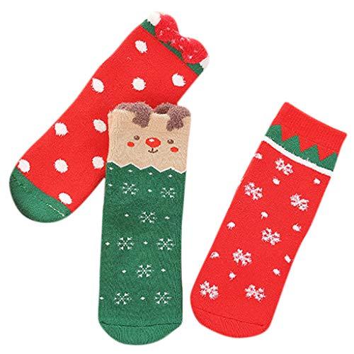 catmoew Kind socken (1-8J) 3 Paare Kind Weihnachten Cartoon Terry Pinguin Handtuch Socken Warme Socken für Kinder Verdicken rutschfest Winddicht Atmungsaktive Socken Kind Boxed
