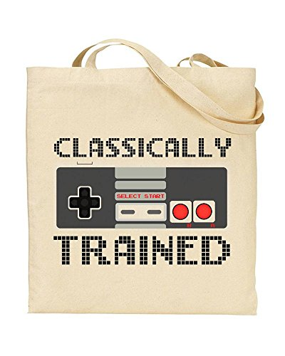 Classically Trained NES Controller Gaming Tote Bag