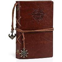 Kesote Cuaderno Diario con Funda de Cuero Vintage Folleto de Tapa Dura Regalo para Hombres y Mujeres