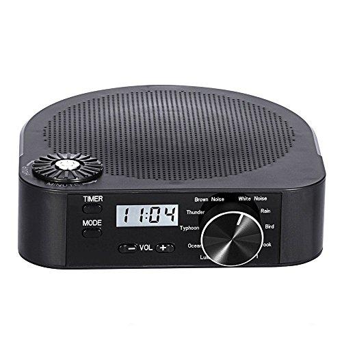 Rantizon Weißes Rauschen Maschine SoundSpa mit 10 Beruhigenden Sounds, Spa Entspannung Sound Schlaftherapie für Babys Erwachsene, With Timer Option