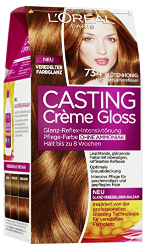 loral paris 51305 casting creme gloss pflege haarfarbe 734 bltenhonig - Coloration L Oreal Caramel