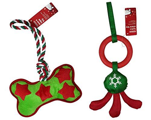 gardman-weihnachten-hund-toys-zwei-stuck-weiche-plusch-seil-kauen-und-starke-hart-nylon-latex-quiets
