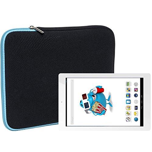 Slabo Tablet Tasche Schutzhülle für Odys Junior Tab 8 Pro Hülle Etui Case Phablet aus Neopren – TÜRKIS/SCHWARZ