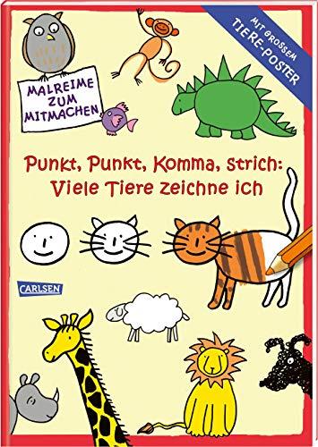 Punkt, Punkt, Komma Strich: Viele Tiere zeichne ich (mit XXL-Poster): Sonderausgabe Band 1