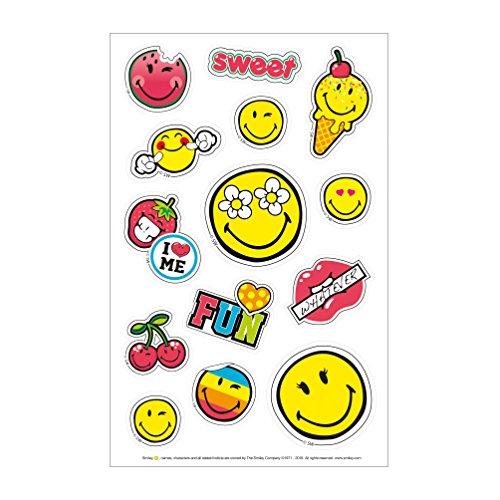 Herlitz 50001989 Sticker Smiley World Girly, 3 Bogen, selbstklebend, FSC, 3 Stück -