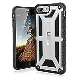 Urban Armor Gear Premium Monarch Schutzhülle nach US-Militärstandard für Apple iPhone 8 Plus / 7 Plus / 6S Plus / 6 Plus - Platinum [Verstärkte Ecken | Sturzfest | Leder | Strukturierter Rahmen | Vergrößerte Tasten] - IPH8/7PLS-M-PL