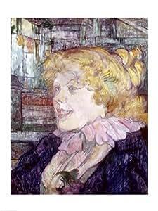 Henri de Toulouse-Lautrec – La jeune fille anglaise de « The Star » au Havre 1899 Impression d'art Print (45,72 x 60,96 cm)