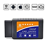 Wsiiroon Auto Wifi OBD 2, Wireless OBD2 Auto Code Reader Scan Tool, Scanner Adapter Überprüfen Motor Diagnostic Tool für iOS Apple iPhone iPad Air Mini iPod Touch & Andorid